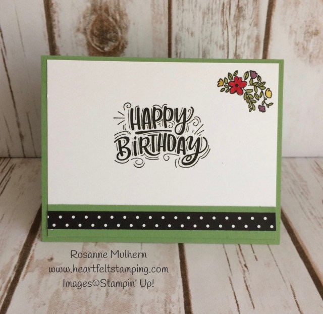 Stampin Up Celebrate You Birthday Cards Idea- Rosanne Mulhern