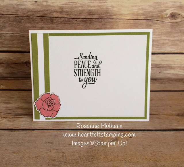 Stampin Up Sweet Soiree Thinking of You Card Ideas - Rosanne Mulhern