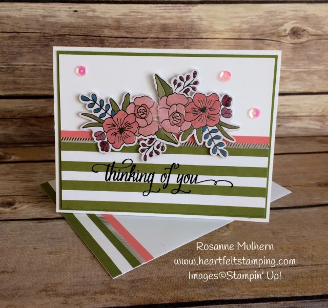Stampin Up Sweet Soiree Thinking of You Card - Rosanne Mulhern