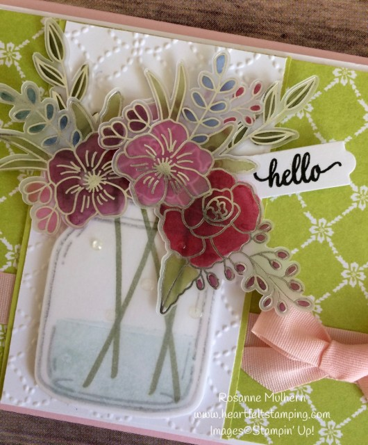 Stampin Up Sweet Soiree Jar of Flowers Cards Ideas - Rosanne Mulhern