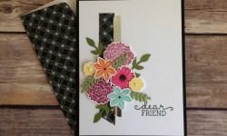 Stampin Up Beautiful Bouquet Friendship Card Idea -Rosanne Mulhern Heartfelt Stamping