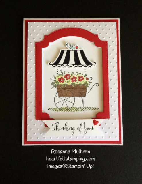 Stampin Up Friendships Sweetest Thoughts Thinking of You Card- Rosanne Mulhern Heartfelt Stamping