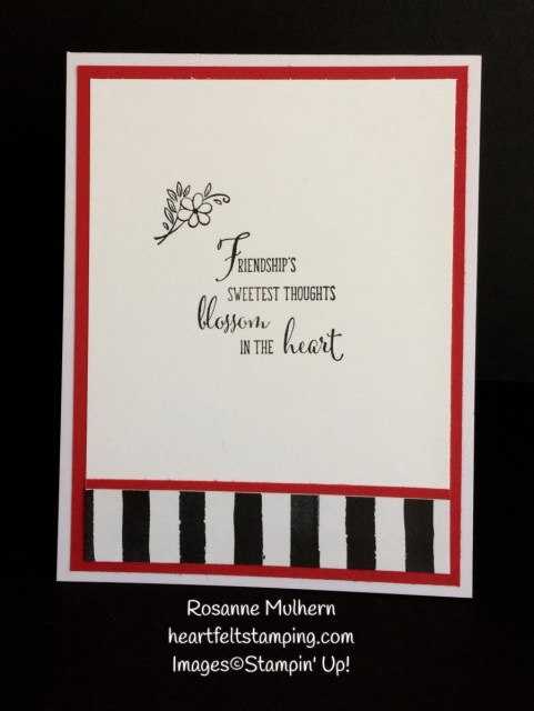 Stampin Up Friendships Sweetest Thoughts Thinking of You Cards - Rosanne Mulhern Heartfelt Stamping