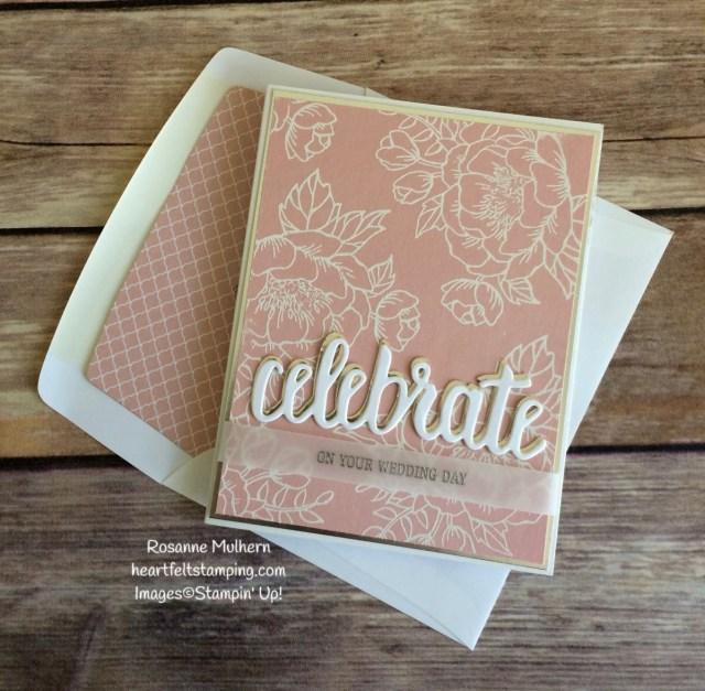 Stampin Up Birthday Blooms Wedding Card Idea - Rosanne Mulhern Heartfelt Stamping