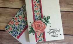Stampin Up Garden Impressions Thinking of You Card - Rosanne Mulhern Heartfelt Stamping