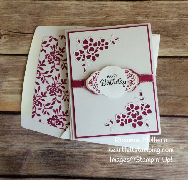 Stampin Up Label Me Pretty Birthday Card Idea - Rosanne Mulhern Heartfelt Stamping