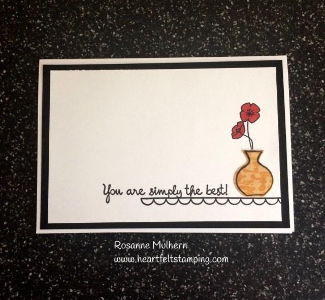 Stampin Up Varied Vases Thank You Card -Rosanne Mulhern Heartfelt Stamping