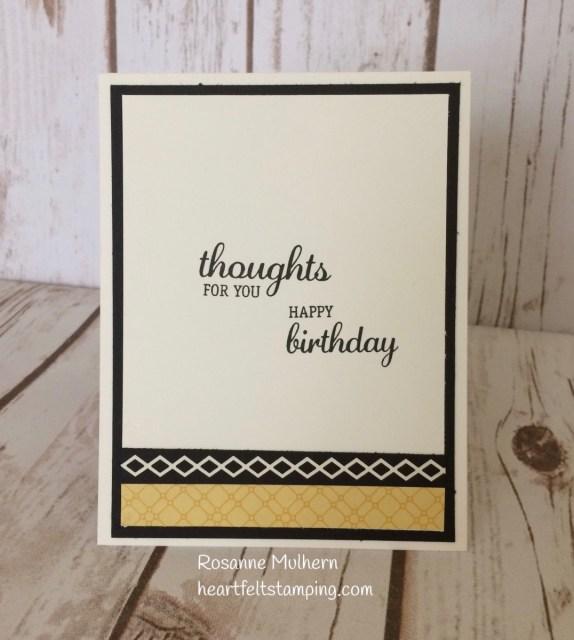 Stampin Up Flourishing Phrases Birthday Card Idea - Rosanne Mulhern Heartfelt Stamping