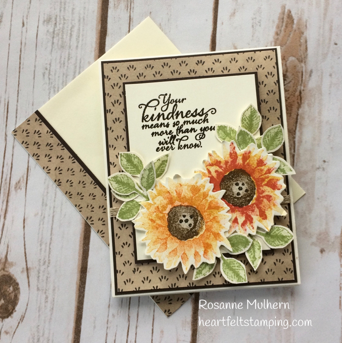 Painted Harvest Thank You Heartfelt Stamping