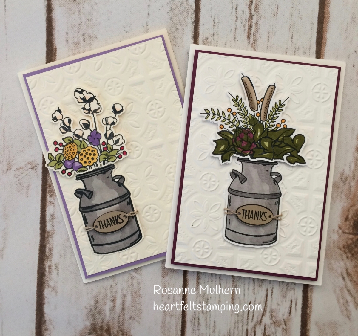 Stampin Up Country Home Thank You Card  Rosanne Mulhern