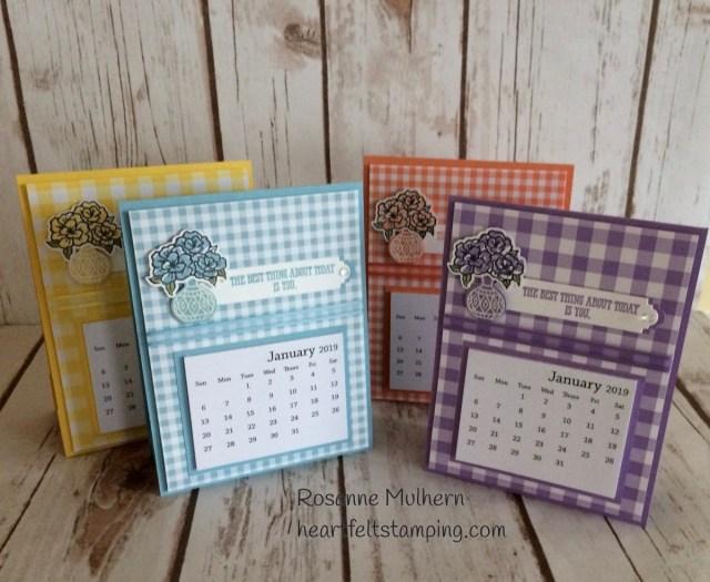 Stampin Up Vibrant Vases Calendars - Rosanne Mulhern Heartfelt Stamping