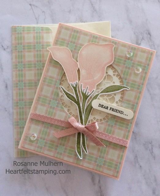 Stampin Up Lasting Lily Friendship card - Rosanne Mulhern Heartfelt Stamping