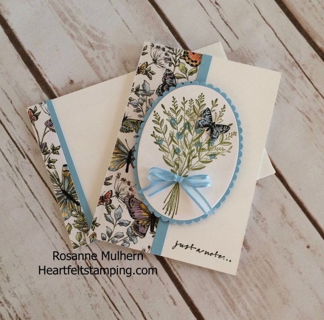 Stampin Up Wishing You Well Note Cards - Rosanne Mulhern -Heartfelt Stamping