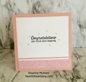 Baby Card - Rosanne Mulhern Heartfelt Stamping