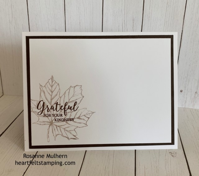 Stampin up Come to Gather Thank You card idea- Rosanne Mulhern stampinup