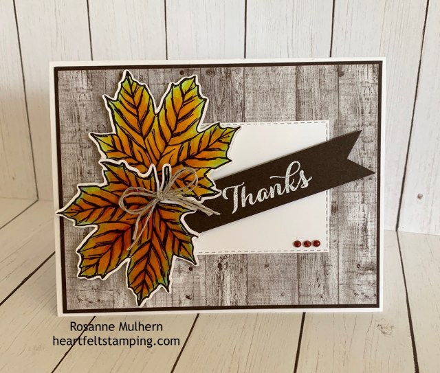 Stampin up Come to Gather Thank You card idea -Rosanne Mulhern stampinup