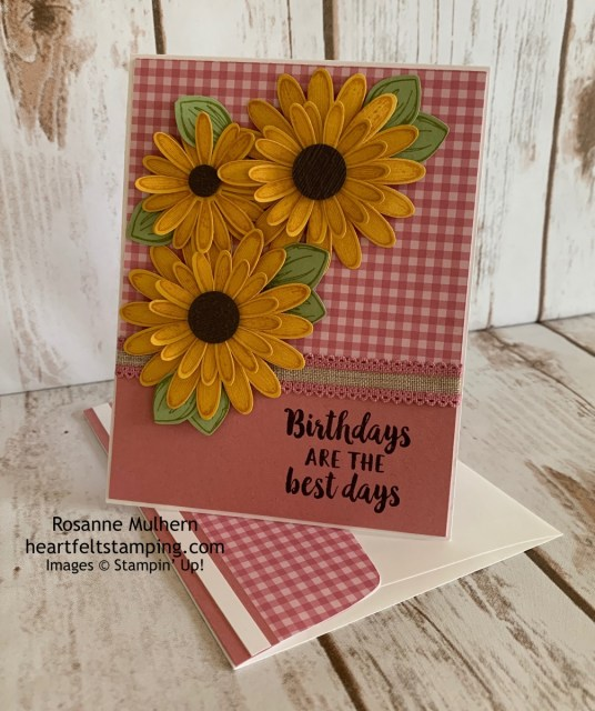 Stampin Up Daisy Lane Birthday Card Idea - Rosanne Mulhern stampinup
