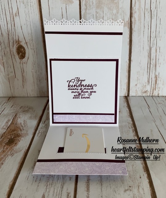 Special Occasion Gift Card Holder Idea - Rosanne Mulhern stampin up