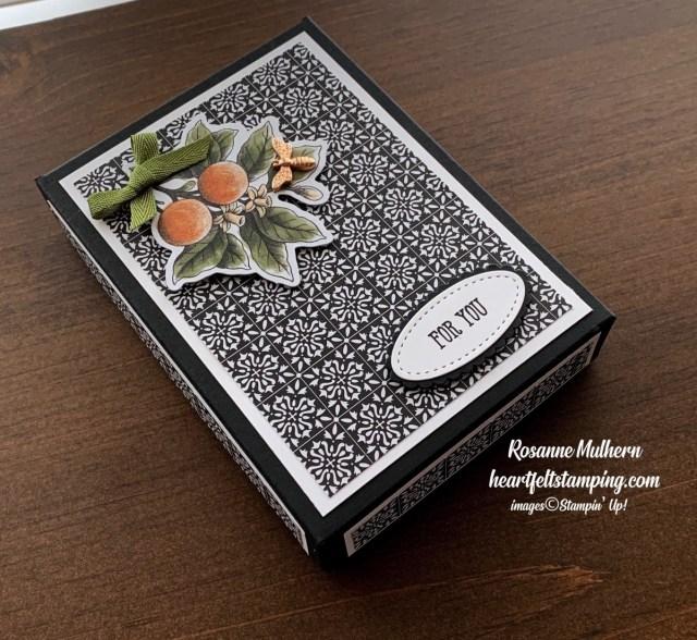 Stampin Up Botanical Prints Medley Thank You Note card set -Rosanne Mulhern stampinup