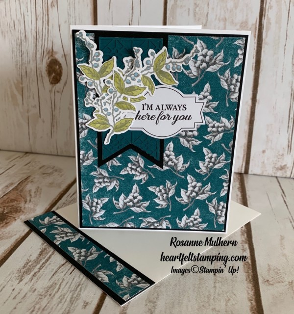 Stampin Up Botanical Prints Product Medley Thinking of You card idea -Rosanne Mulhern stampinup