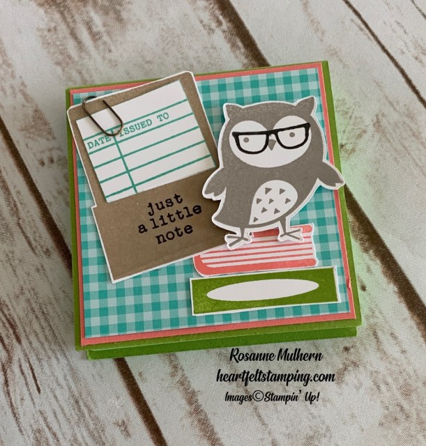 Stampin Up Check You Out Thinking of You Cards - Rosanne Mulhern stampinup