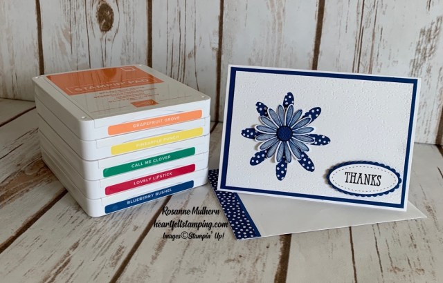 Stampin Up Daisy In-Color Thank You Note - Rosanne Mulhern stampinup