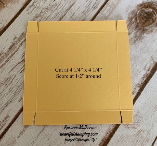 Stampin Up Free as a Bird Friendship Card and Pizza Box Gift Idea- Rosanne Mulhern stampinup