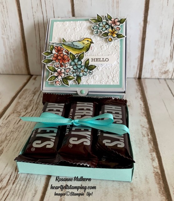 Stampin Up Free as a Bird Friendship Card and Pizza Box Gift Ideas - Rosanne Mulhern stampinup