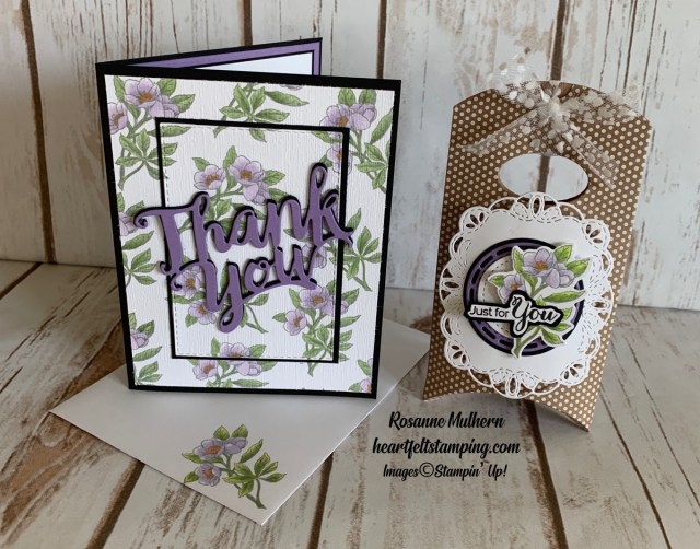 Stampin Up Botanical Prints Thank You Card Idea - Rosanne Mulhern stampinup
