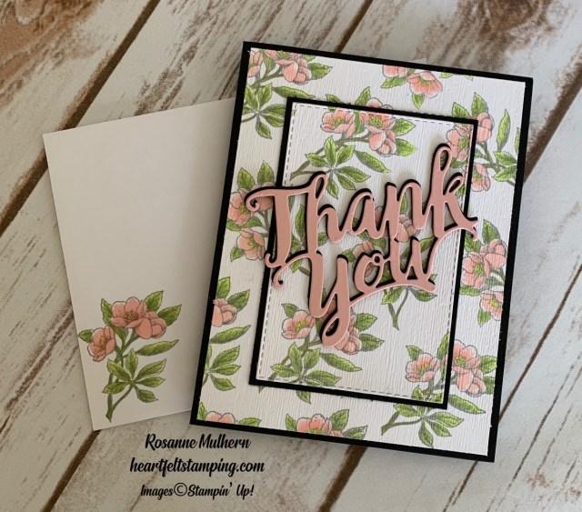 Stampin Up Botanical Prints Thank You Card Ideas - Rosanne Mulhern stampinup