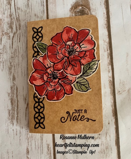 Stampin Up To A Wild Rose Notebooks -Rosanne Mulhern stampinup