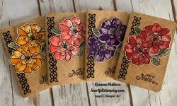 Stampin Up To A Wild Rose Notebooks - Rosanne Mulhern stampinup