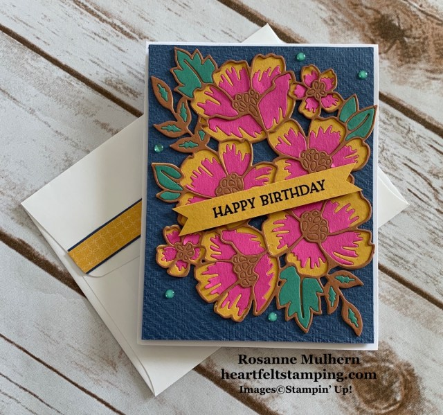Stampin Up Blossoms in Bloom Birthday Card Idea -Rosanne Mulhern stampinup