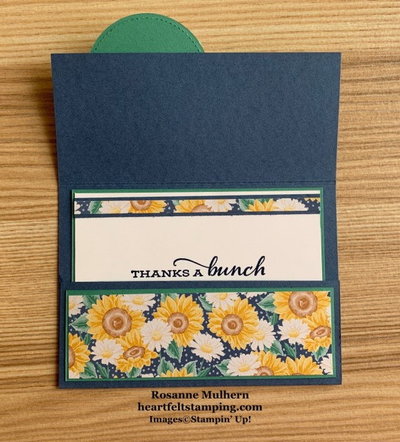 Stampin Up Flowers for Every Season Thank You Card Idea -Rosanne Mulhern stampinup