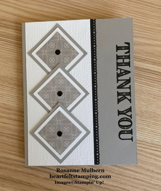 Stampin Up Ornate Thanks Thank You Card Idea -Rosanne Mulhern stampinup