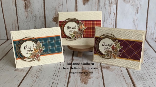 Stampin Up Beautiful Autumn Thank You Notes - Rosanne Mulhern stampinup