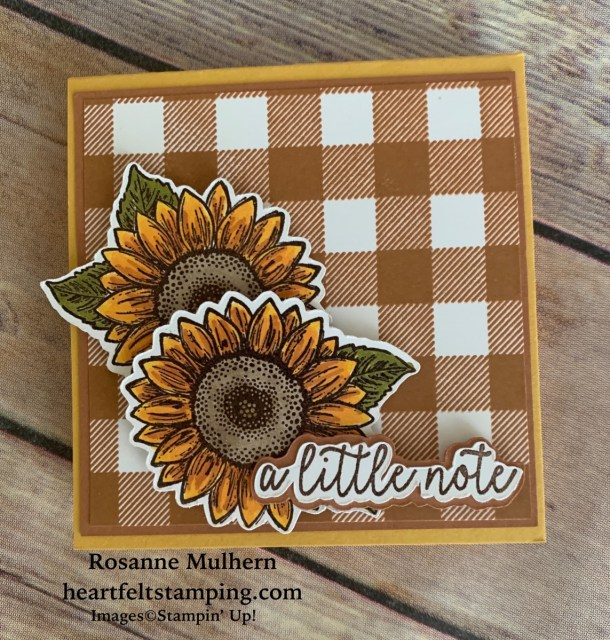 Stampin Up Celebrate Sunflowers Post-It Note Holders -Rosanne Mulhern stampinup