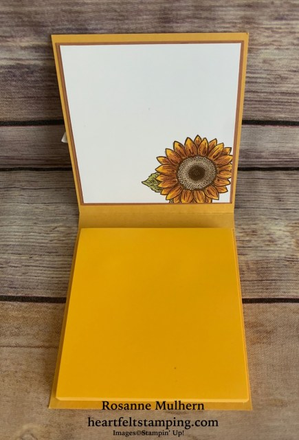 Stampin Up Celebrate Sunflowers Post-It Note Holders- Rosanne Mulhern stampinup