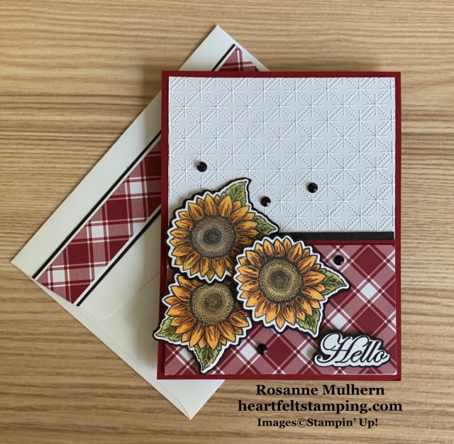 Stampin Up Celebrate Sunflowers Thinking of You Card Idea -Rosanne Mulhern stampinup