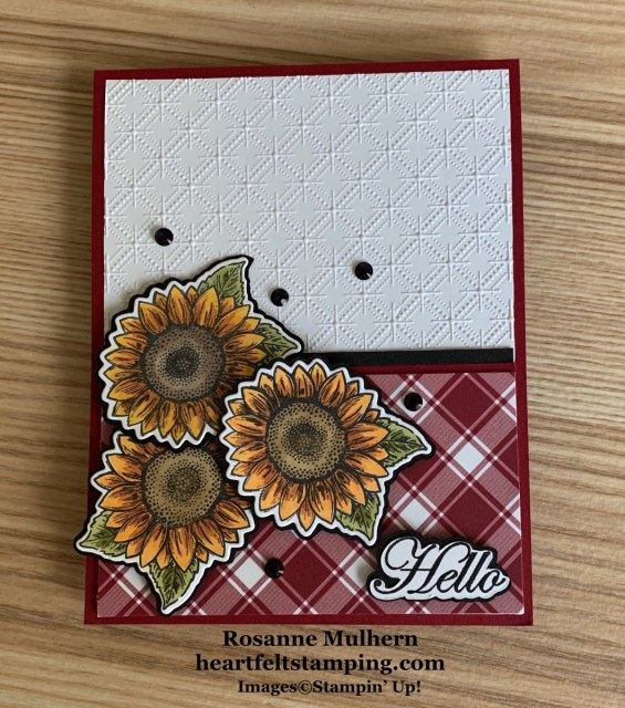 Stampin Up Celebrate Sunflowers Thinking of You Card Ideas - Rosanne Mulhern stampinup