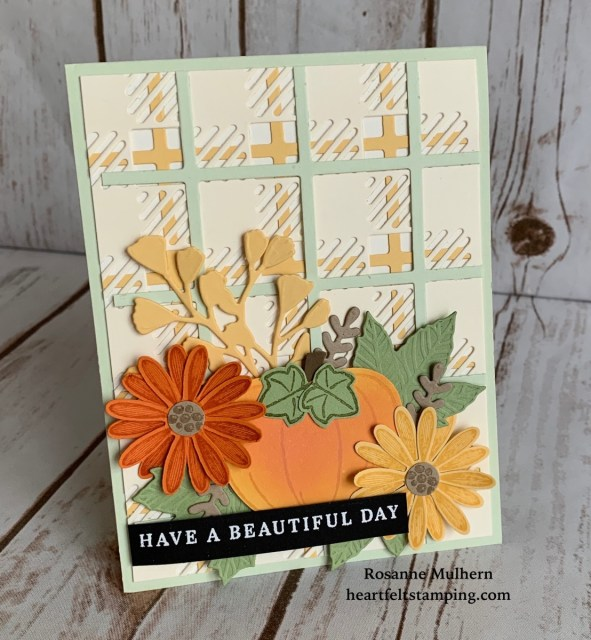 Stampin Up Best Plaid Friendship Card Idea - Rosanne Mulhern stampin up