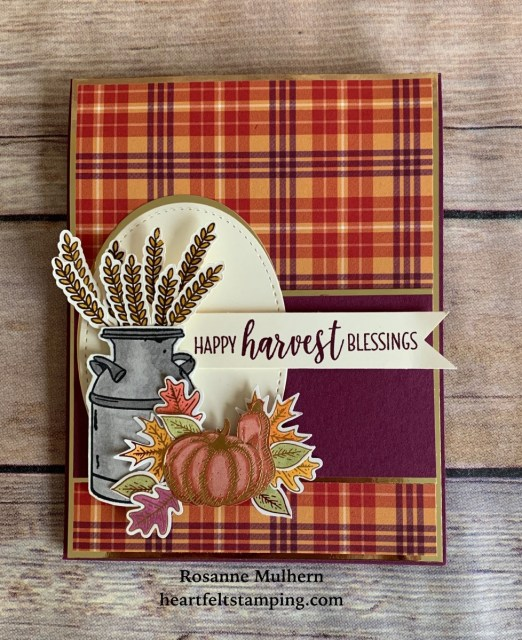 Stampin Up Country Home Fall Card-Rosanne Mulhern stampinup