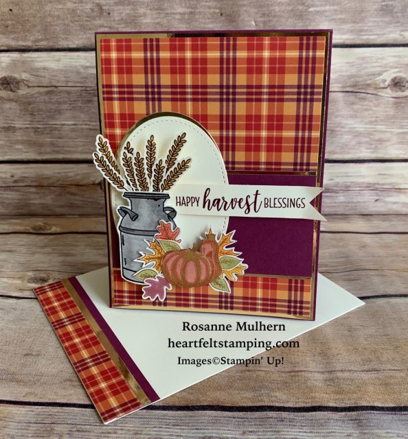 Stampin Up Country Home Fall Card - Rosanne Mulhern stampinup