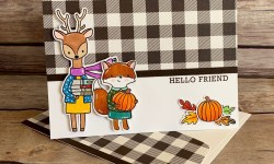 Hello Bluebird Fall Friends Friendship Card Idea - Rosanne Mulhern