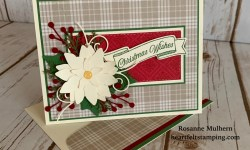 Poinsettia Petals Christmas Card Idea - Rosanne Mulhern