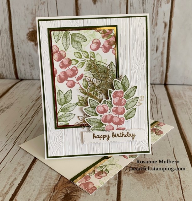Stampin Up Forever Fern Birthday Card Ideas -Rosanne Mulhern stampinup