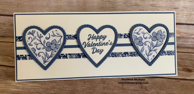 Stampin Up Slimline Meant To Be Valentine Card Ideas - Rosanne Mulhern stampinup