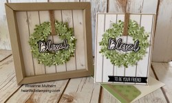 Stampin Up Blessed Wreat 3D Frame and Friendship Card - Rosanne Mulhern stampinup