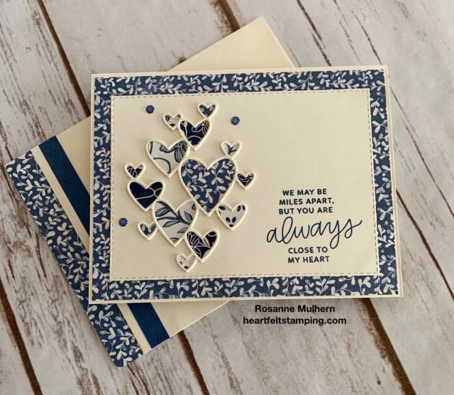 Stampin Up Boho Indigo Friendship Card Idea - Rosanne Mulhern stampinup