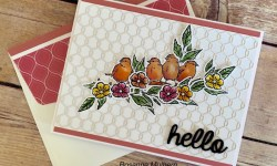Stampin Up Free As A Bird Hello Card Ideas- Rosanne Mulhern stampin up